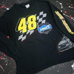 Jimmie Johnson vintage Y2K racing tee NASCAR